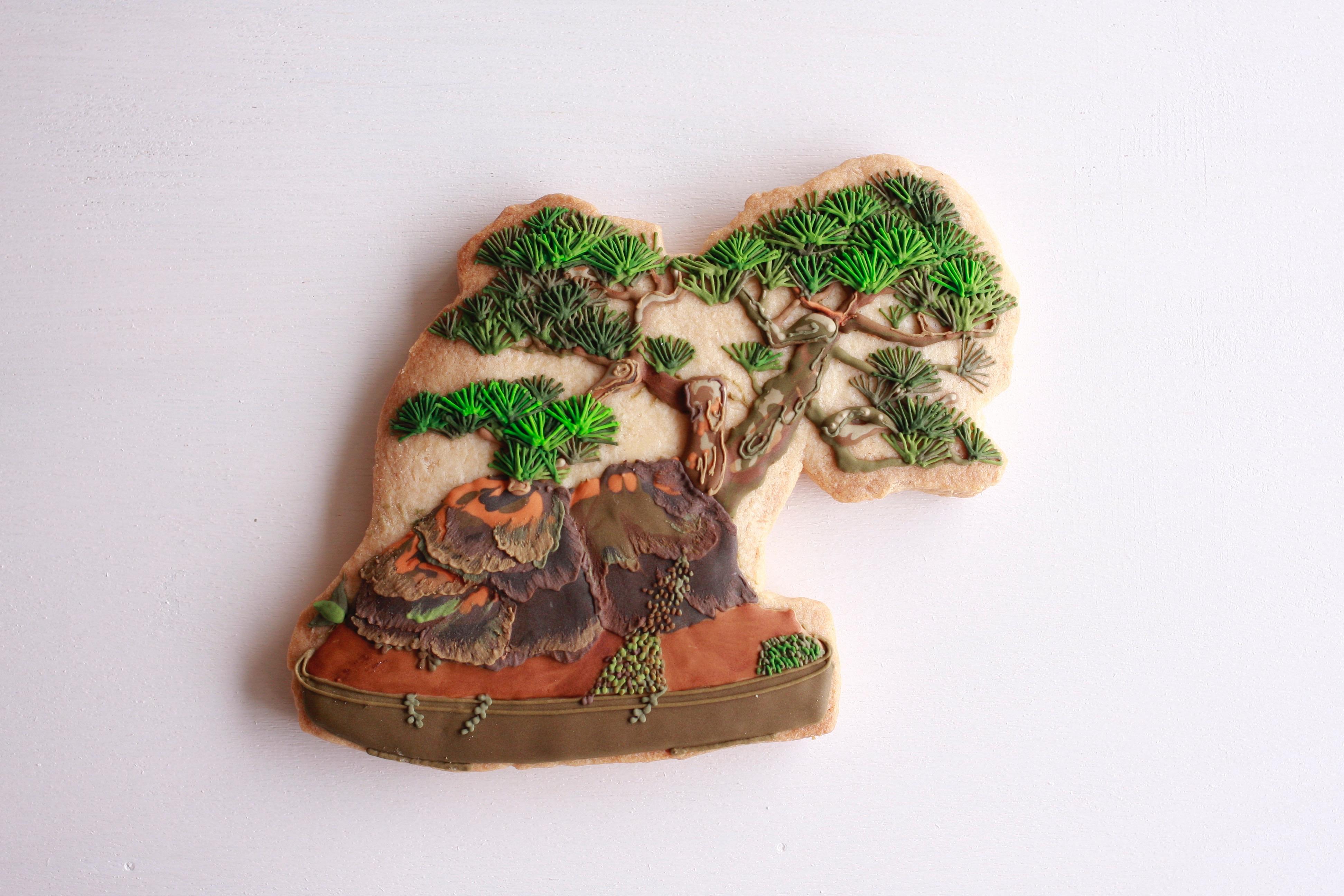 盆栽アイシングクッキー(松)