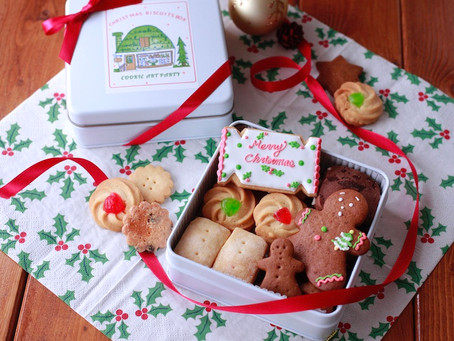 伊勢丹英国展のオンラインクッキー缶が出来上がってきております