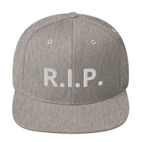 R.I.P. Snapback Hat Heather Grey b