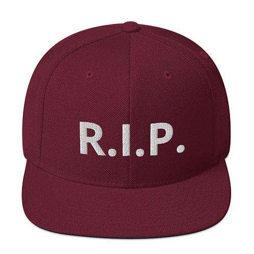 R.I.P. Snapback Hat Maroon