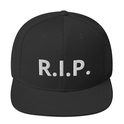 R.I.P. Snapback Hat Black
