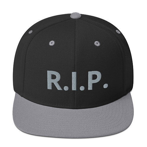R.I.P. Snapback Hat Black/Silver