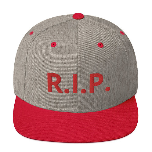 R.I.P. Snapback Hat Heather Grey/Red