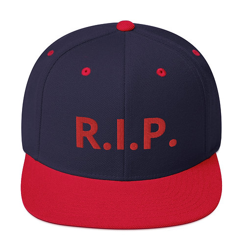 R.I.P. Snapback Hat Navy/Red