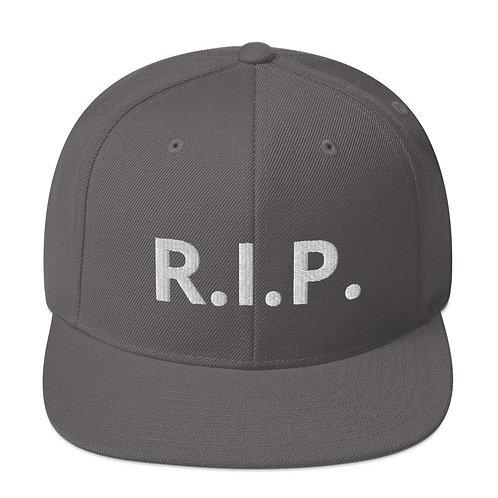 R.I.P. Snapback Hat Dark Grey b