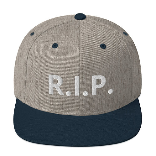 R.I.P. Snapback Hat Heather Grey/Navy b