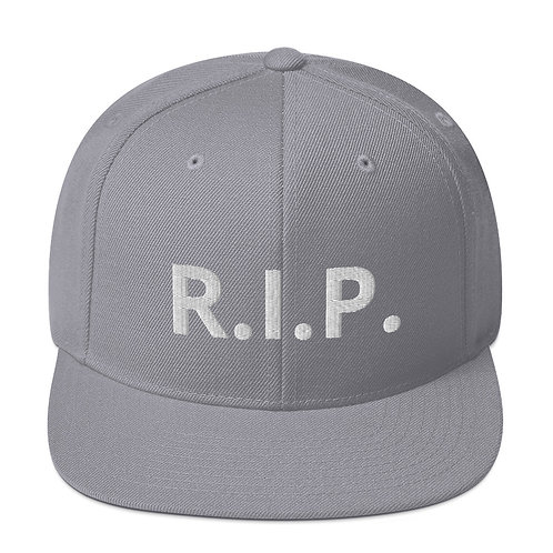 R.I.P. Snapback Hat Silver b