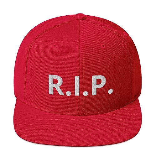 R.I.P. Snapback Hat Red b