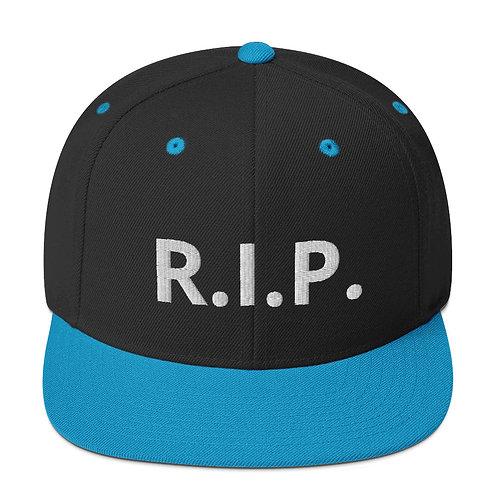 R.I.P. Snapback Hat Black/Teal