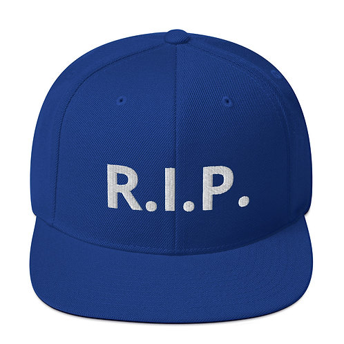 R.I.P. Snapback Hat Royal Blue