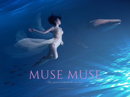 Underwater II - Muse Portrait Art