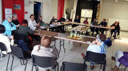 Réunion des adhérents au CSBN (Centre social Bordeaux Nord)