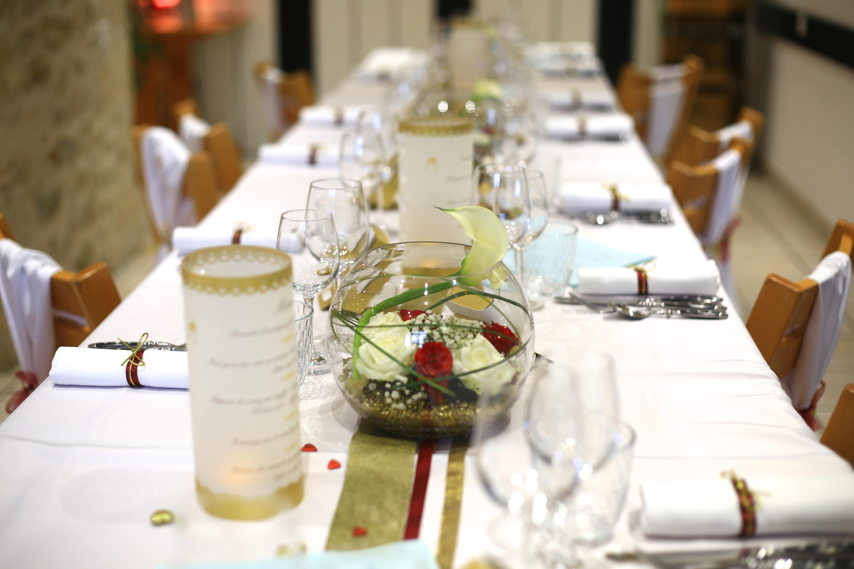 Composition florale invités