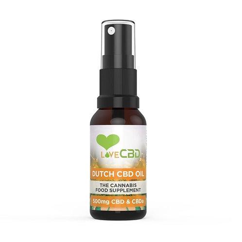 Cbd Oil Dutch 500mg 20ml Spray By Love Cbd