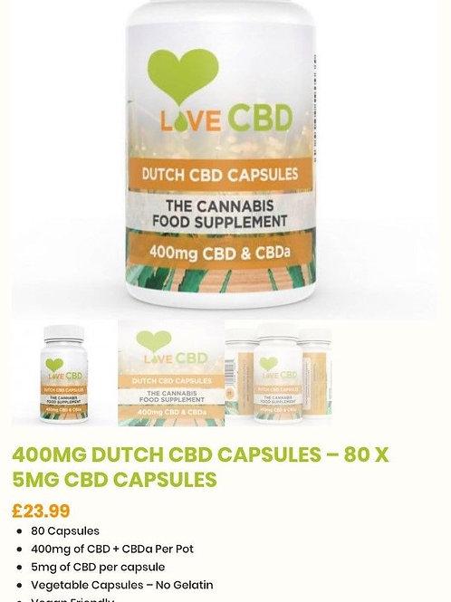 Cbd Dutch Oil 80 Capsules 400mg Love CBD