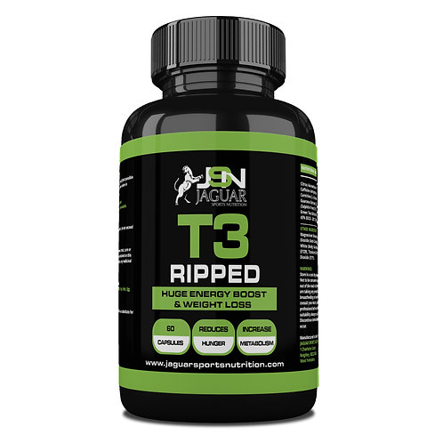 T3 RIPPED EXTREME FAT BURNER (60 CAPS)