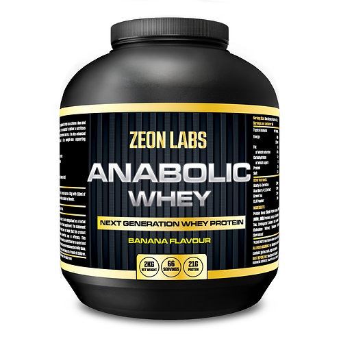 ZEON LABS ANABOLIC WHEY 2KG - 66 SERVINGS