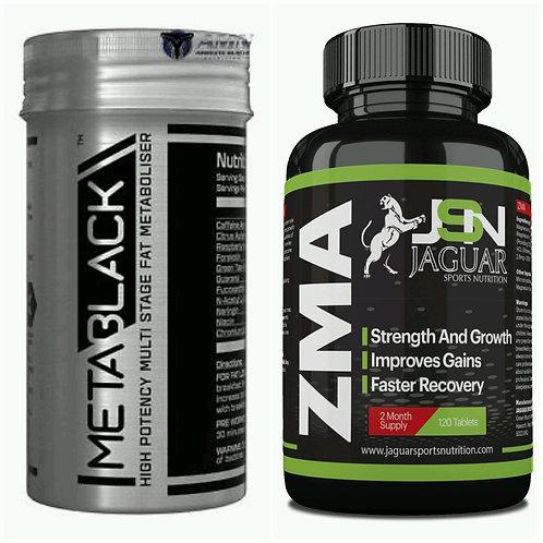 Meta Black Fat Burner 60 Caps & ZMA 120 TABLETS