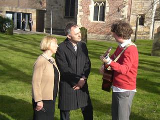 James meets renowned conductor Charles Hazlewood