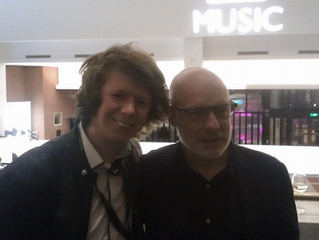 James meets the legendary Brian Eno