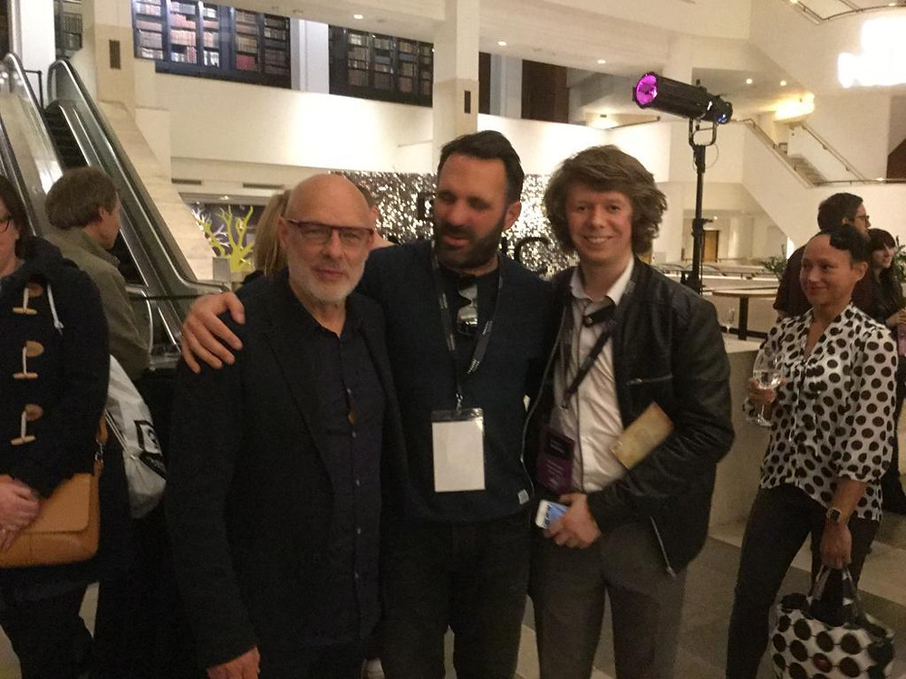 James with Brain Eno and Shaun Keaveny