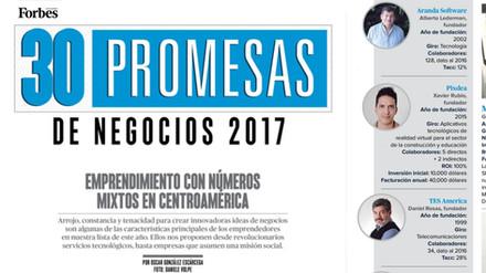 PIXDEA  como promesa de negocio en Centroamérica  según FORBES.