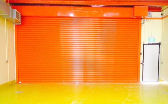Heavy Duty Roller Shutter with orange co