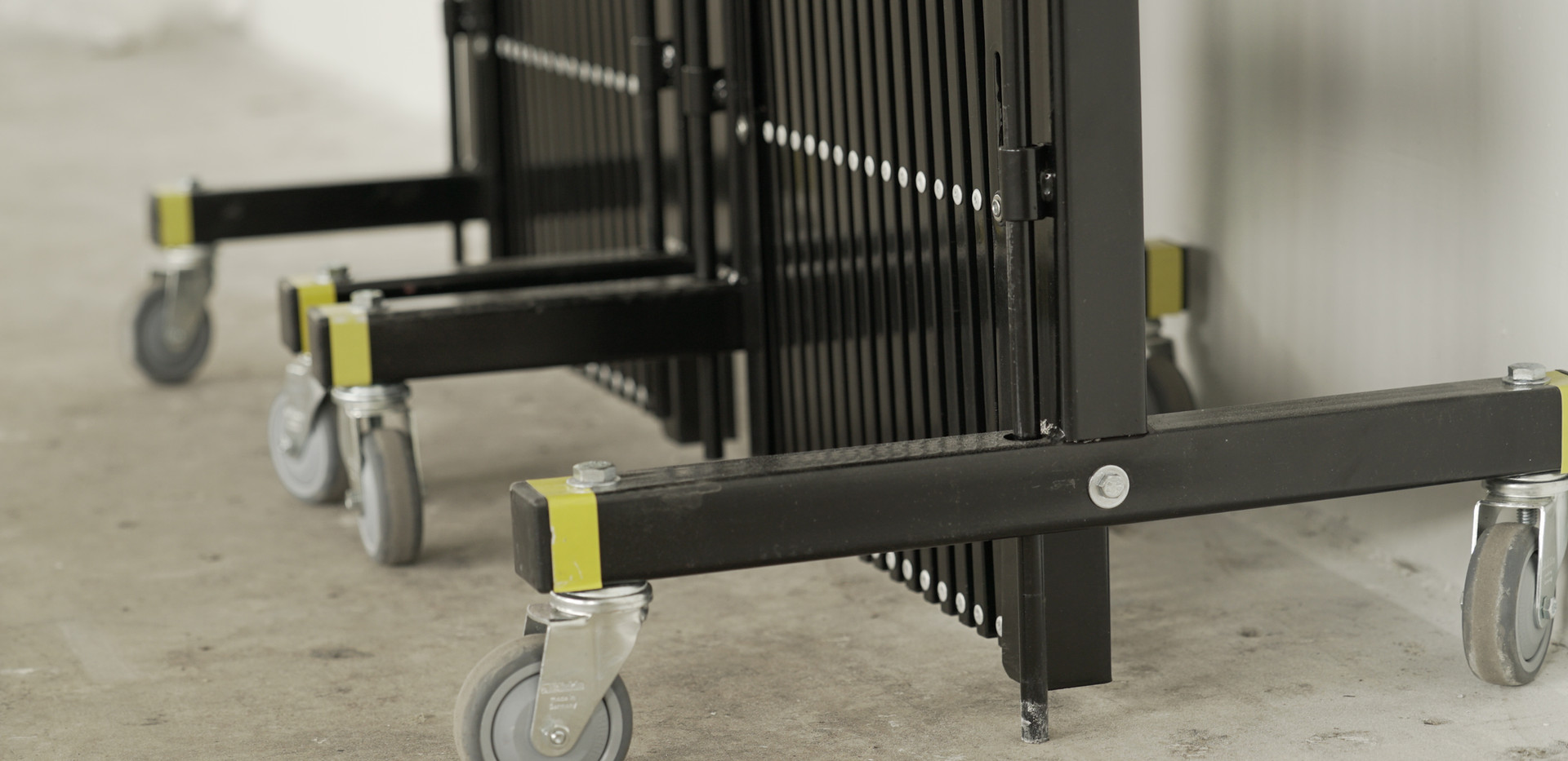 Security Barriers - wheels for mobility.