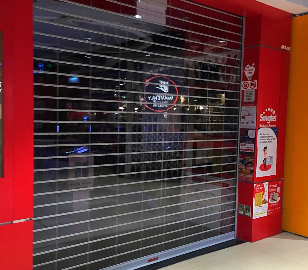 MVPS Roller Shutter for SingTel shop_edi