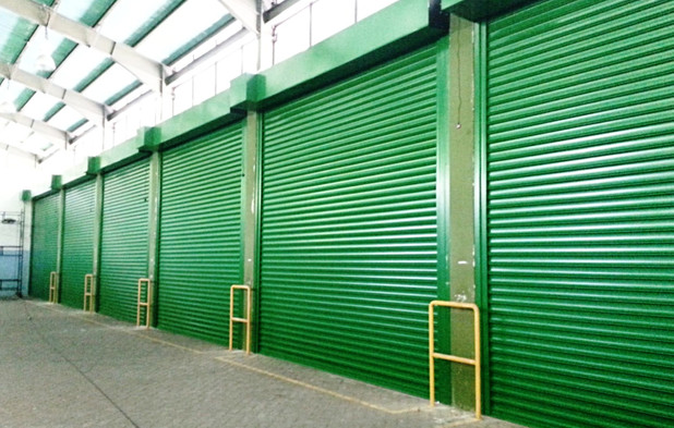 Heavy Duty Roller Shutter with green col