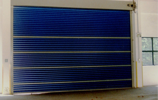 Heavy Duty Roller Shutter with blue colo