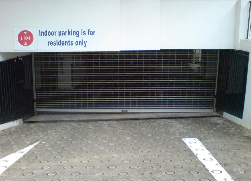 Grille with Acrylic Shutter for carparks