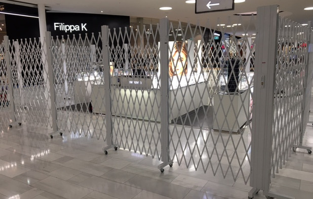 Security Barriers for popout stalls in s