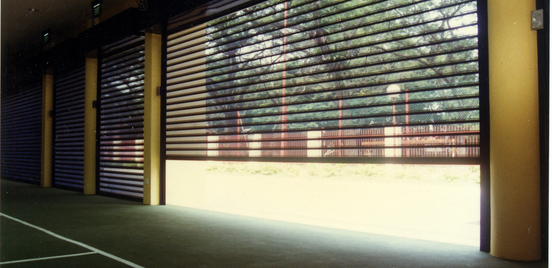 Perforated Roller Shutter _ Sports Hall