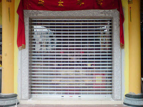 Grille with Acrylic Shutter for Peng Lai