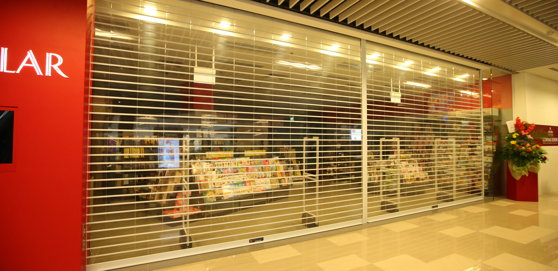 MVPS Roller Shutter for Popular Bookshop