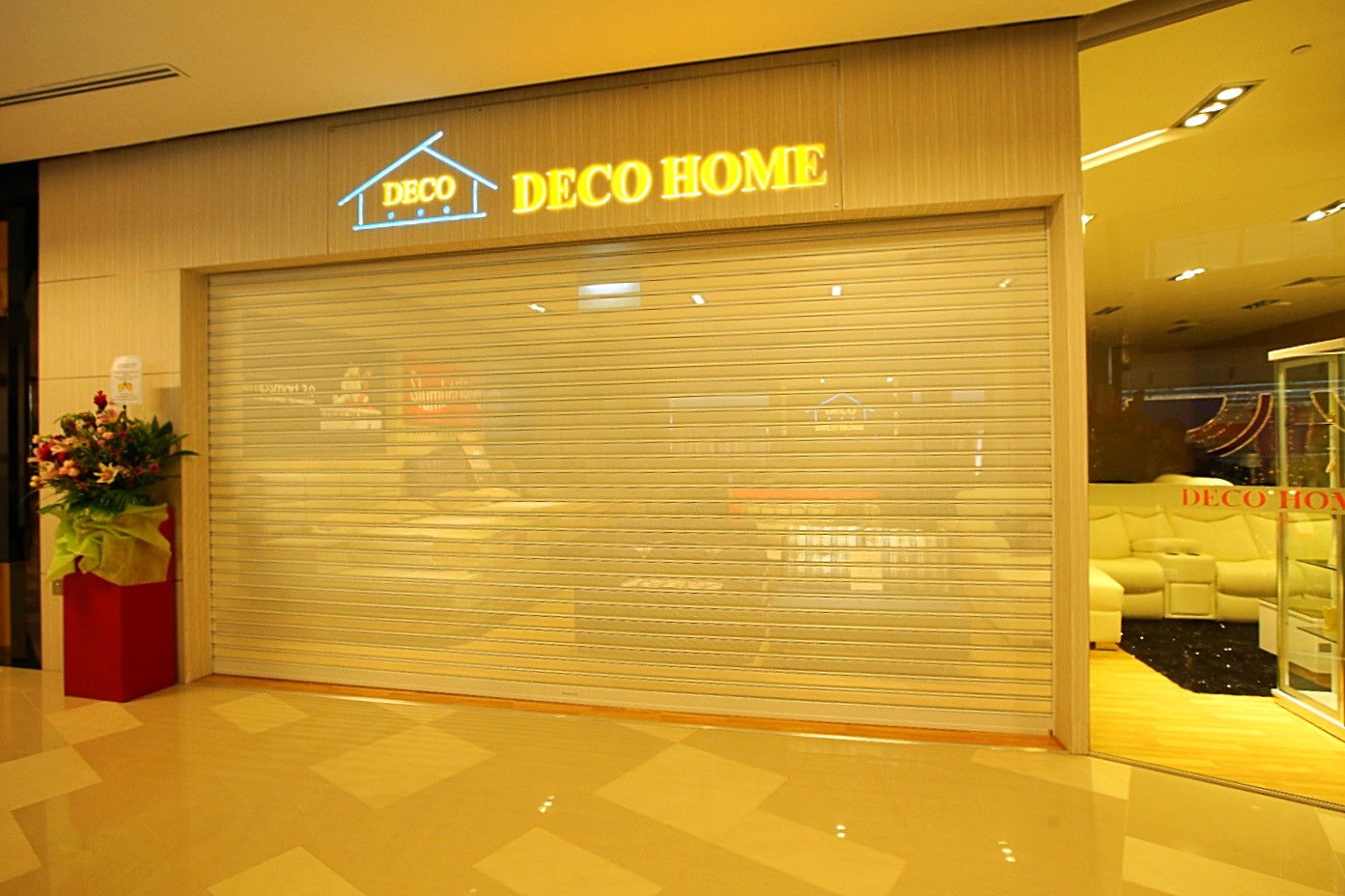 Perforated Roller Shutter _ Furniture Sh