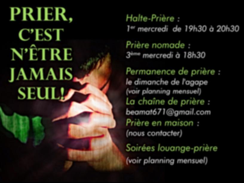 Eglise Evangélique Libre d'Avignon : temps de prière