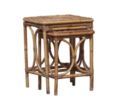 Rattan Nesting Tables