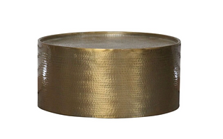Brass Drum Hammered Coffee Table