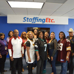 NFL Day at Staffing Etc