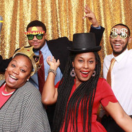 Some of our recruiters posing at the annual holiday party
