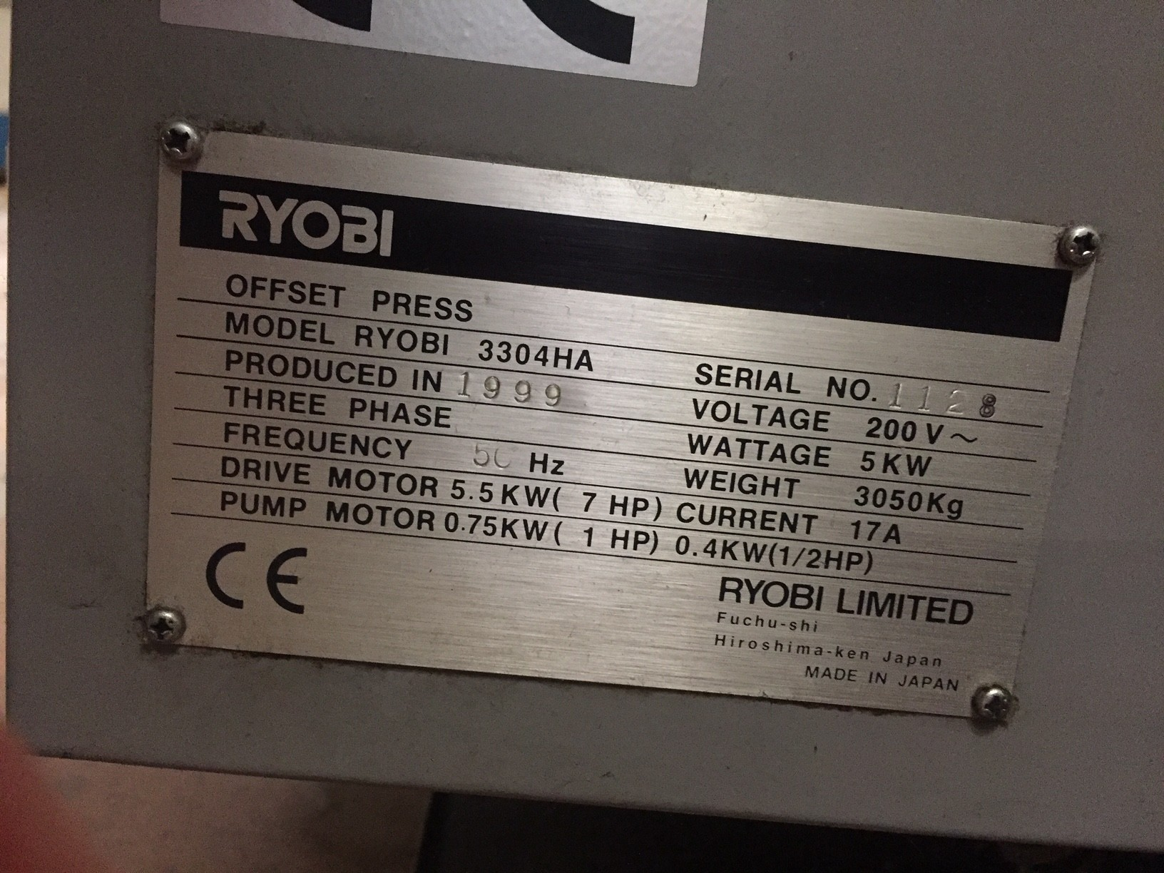 RYOBI 3304 HA