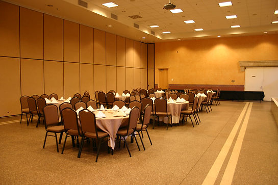 Half Ballroom setup for an event, great space for events that need A/V
