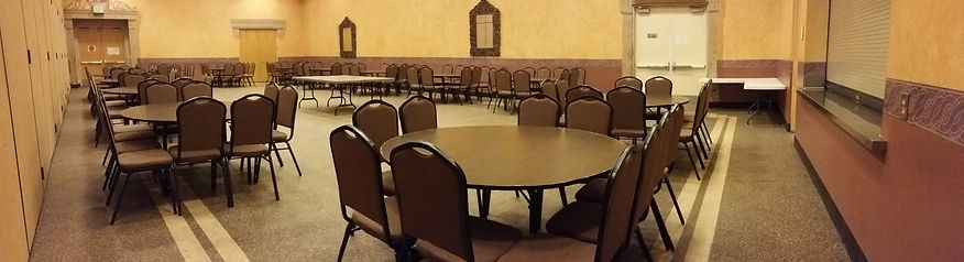 Back half of the ballroom is available for rental as well, great space for any type of event