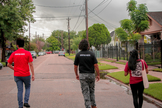 They are our directors, they led us around the neighborhood, helping us realize how everyone is different in the community. How every part of Houston has its own culture and life.