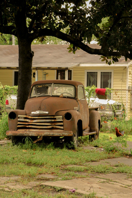 When seeing classic cars it automatically makes me wonder of who could have driven that car when it was in its prime day. I kind of imagined a farmer driving that truck on a dirt road, while going back to their home.