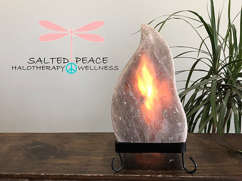 Grey Himalayan Salt Lamp Moroccan Flame