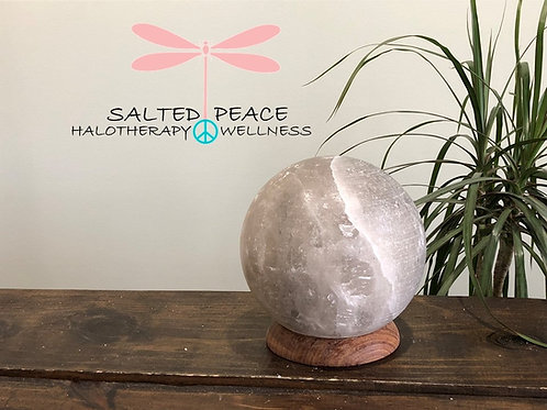 Grey Himalayan Salt Lamp Globe