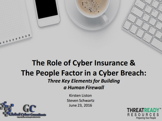 WEBINAR: THE ROLE OF CYBER INSURANCE & THE PEOPLE FACTOR IN A CYBER BREACH